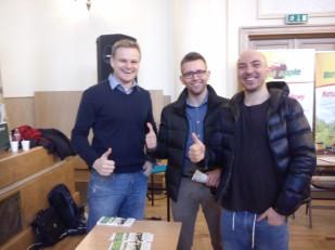 Od lewej: Grzegorz, Kumpel Romana i Roman